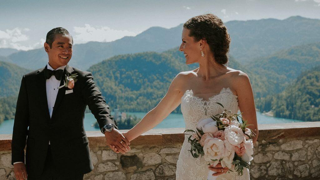 Caitlyn & Mark Poroka na Bledu